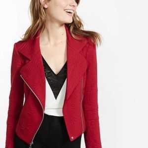 Express red zip up jacket small